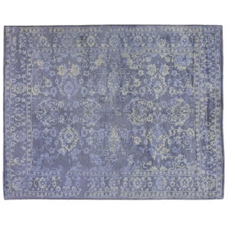 Persian Gray & Purple Floral Rug - 8' x 10'