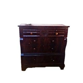 Antique Empire Dresser w/Flame Burl Secret Drawer