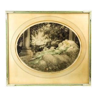 Louis Icart Vintage 'La Belle Au Bois' Etching