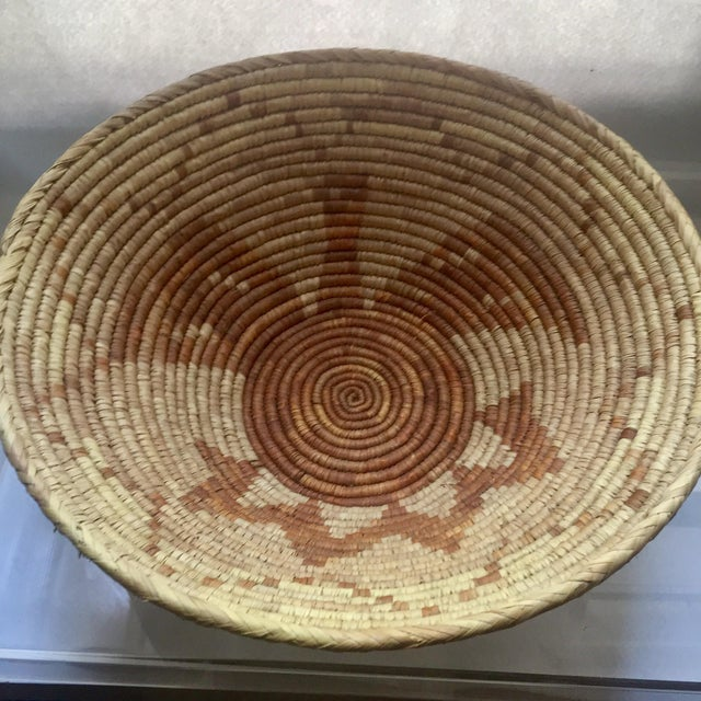 Vintage Native American Apache Pima Coil Basket - Image 10 of 11