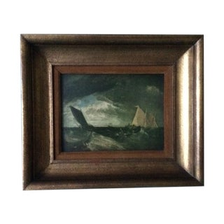 JMW Turner Vintage Ship Painting