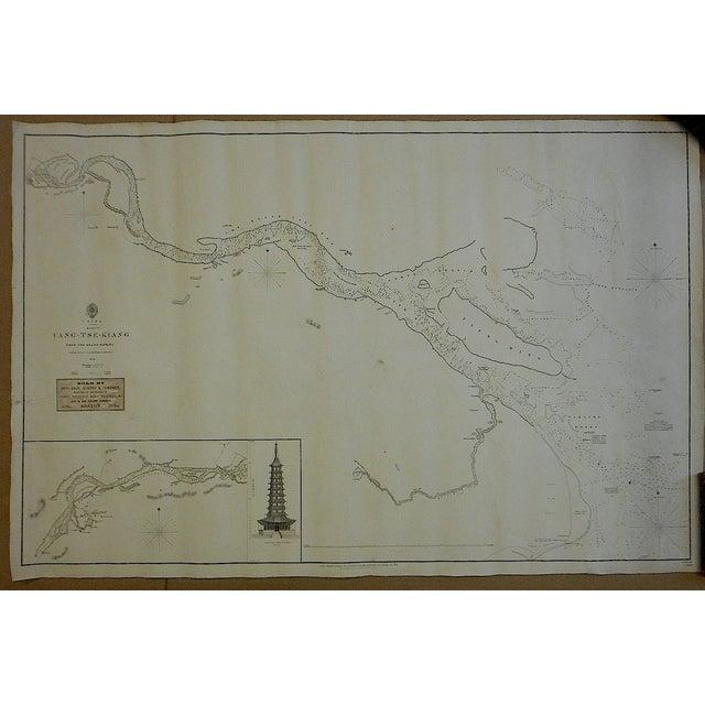 Image of Antique Nautical Chart China Yang-Tse River