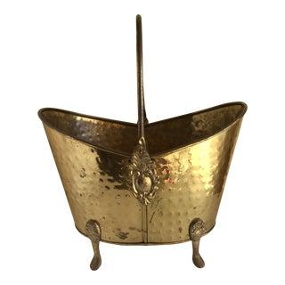 Hammered Brass Vessel Planter