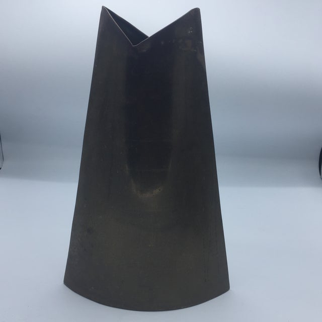 J. Johnston Modernist Brass Vase - Image 2 of 6