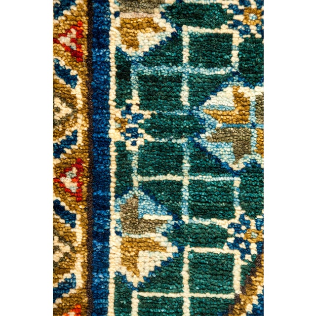 Image of Traditional Tribal Style Hand Knotted Area Rug - 7' X 8'