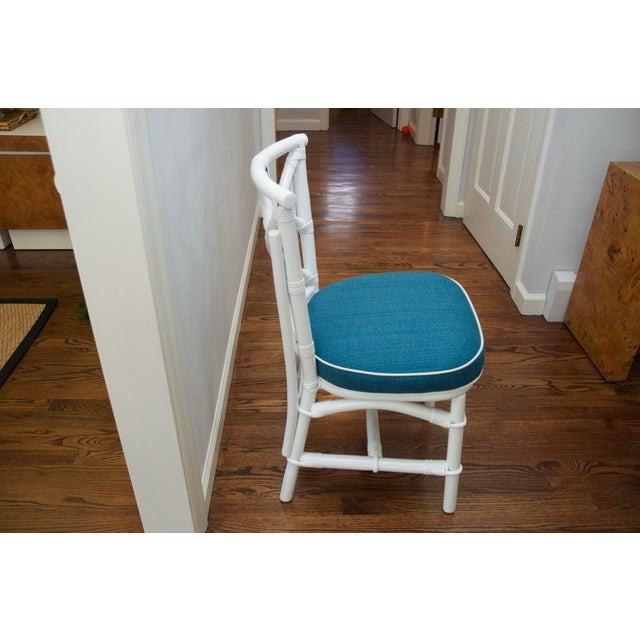 Refinished Ficks Reed Rattan Chairs - Set of 4 - Image 5 of 8