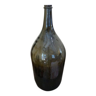 Antique Glass Wine Bottle