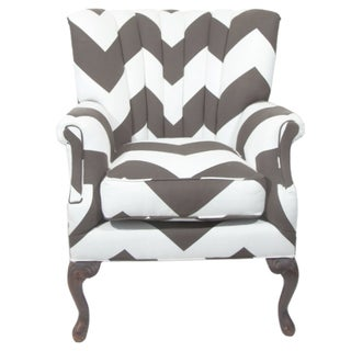 Vintage Umber & White Channeled Chair