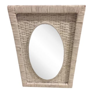 Vintage Cottage Style Wicker Mirror