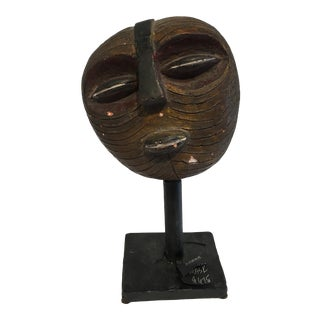 African Mask on Metal Stand