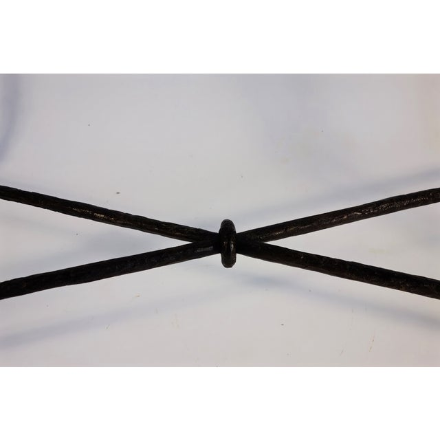 Image of Giacometti Style Wrought Iron Console Table