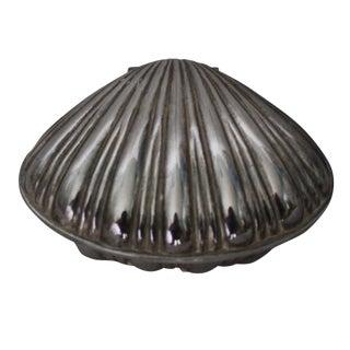 Silverplate Shell Trinket Box