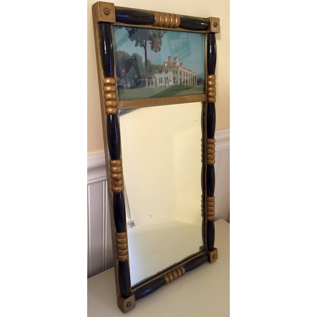 Image of Antique Sheraton Federalist Style Mirror