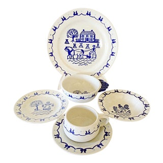 Metlox Provincial Blue Pottery Set - Service for 8