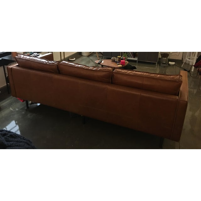 Axel West Elm Leather Couch - Image 5 of 5