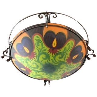 "Ulla Darni ""Ibis-Purple"" Flush Mount Chandelier"