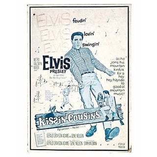 Vintage Elvis Kissin' Cousins Sign