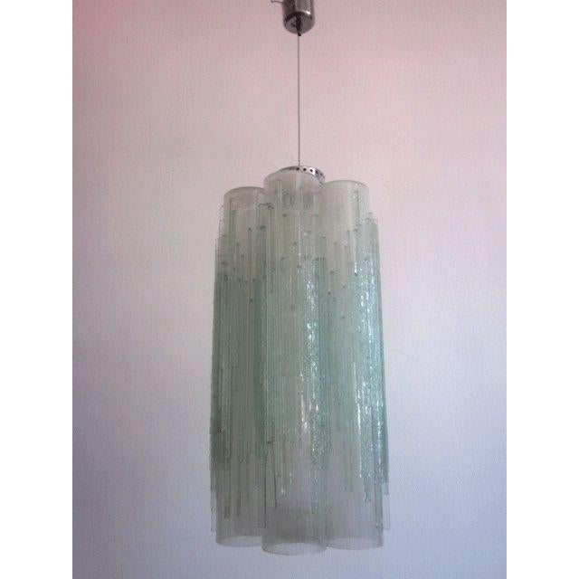 Rare Murano Glass Columnar Chandelier by Venini - Image 2 of 7