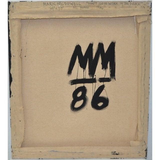 Image of 1986 Mark McDowell Acrylic On Canvas