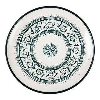 Zahra Green & White Plate