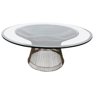 Warren Platner Chrome and Glass Coffee Table