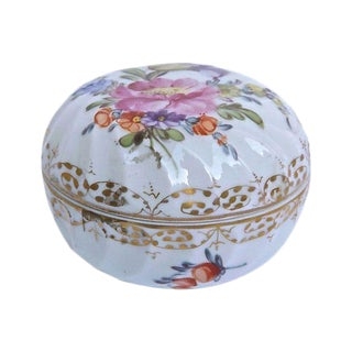 Antique French Porcelain Floral Limoges Box