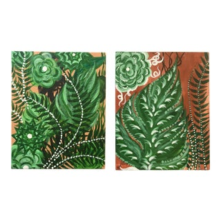 Spanish Plant Lover Painting - A Pair