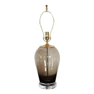 Italian Smoky Topaz Blown Glass Lamp