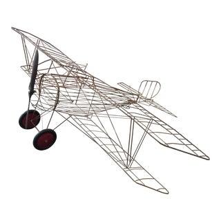 French Bi-Plane Hanging Sculpture