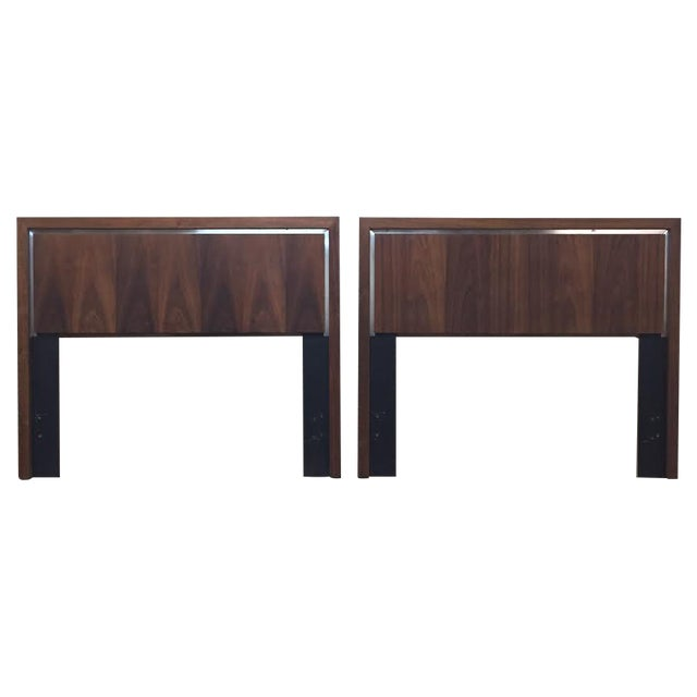 Dillingham Twin Headboards by Milo Baughman - Pair - Image 1 of 8