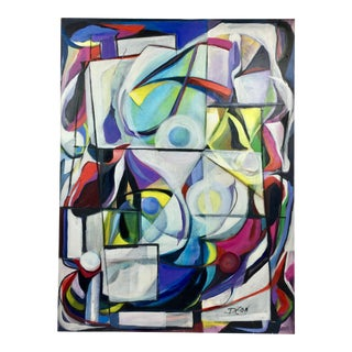 """Deon Robertson """"Windows 2000"""" Abstract Oil on Canvas Painting"""