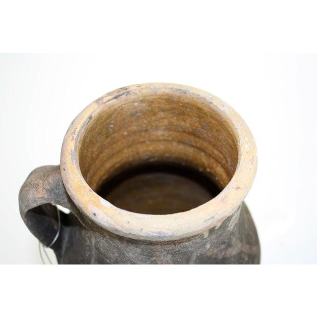 Antique Turkish Ochre Oil Pot - Image 3 of 4