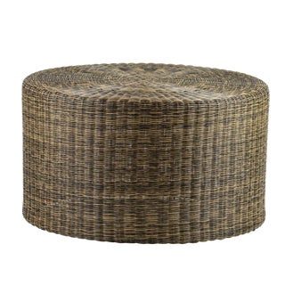 Woven Fiber Low Side Table