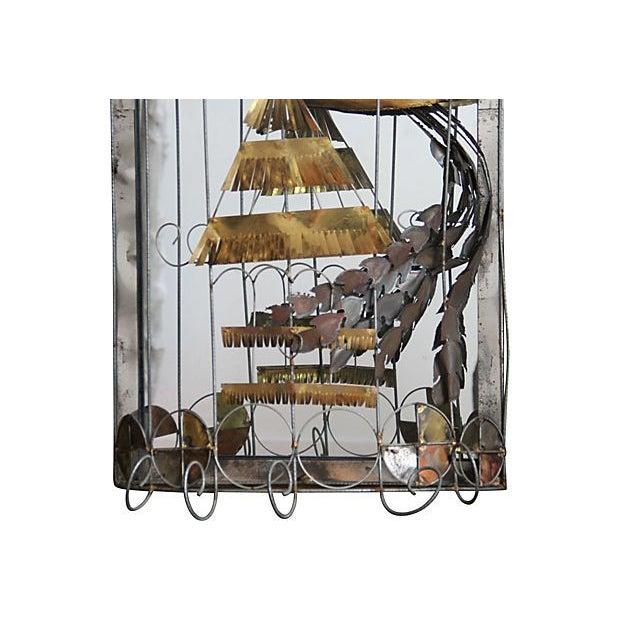 C. Jere Mirror Birdcage Sculpture - Image 2 of 4