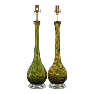 Applied Drip Murano Glass Lamps