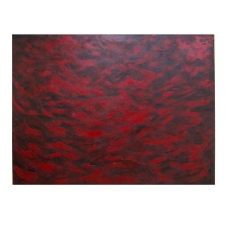Red Feathers Abstract Painting