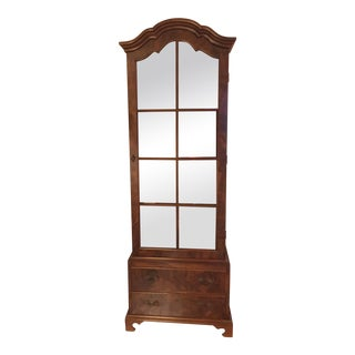 Italian Walnut Display Cabinet or Curio