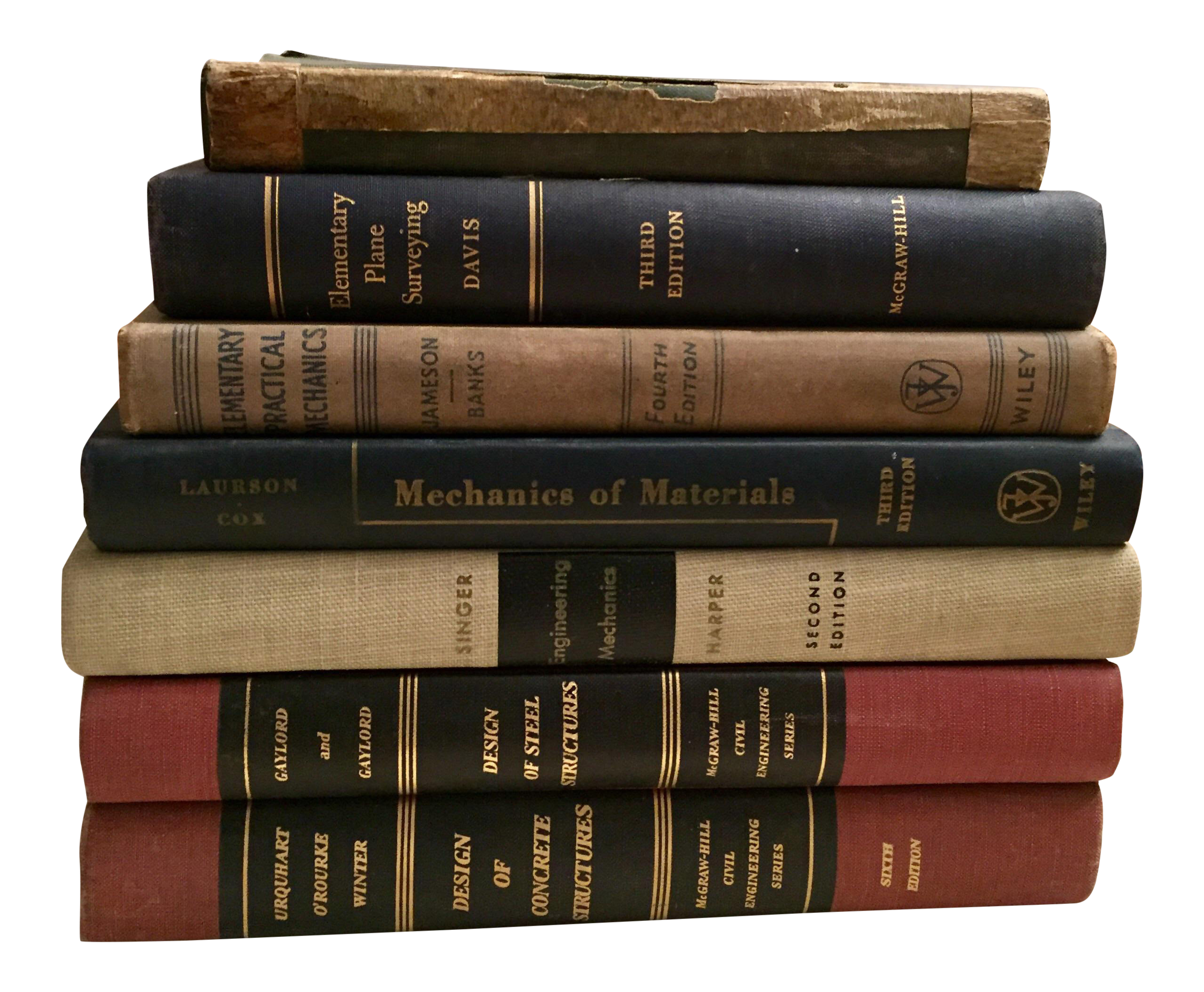 Vintage Engineering Textbooks   Set Of 7