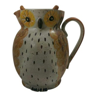 Vintage Owl Pottery Pitcher