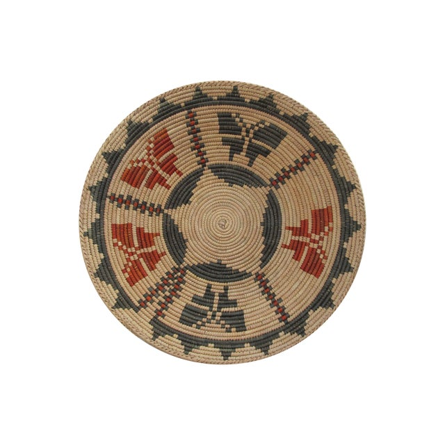 Image of Native American Basket with Butterflies