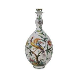 Mid-Century Hand Painted Lamp Stylized Bird