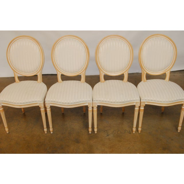 Louis XVI Dining Chairs - Set of 4 - Image 3 of 9