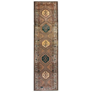 """Vintage Persian Hand Knotted Wool Runner - 3'2"""" x 11'8"""""""