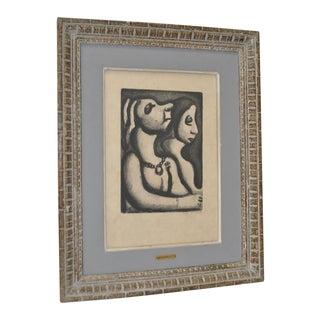 """Georges Rouault Etching """"Deux Femmes en Profil"""" c.1932"""