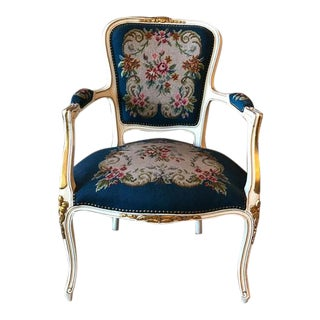 French Needle Point Arm Chair