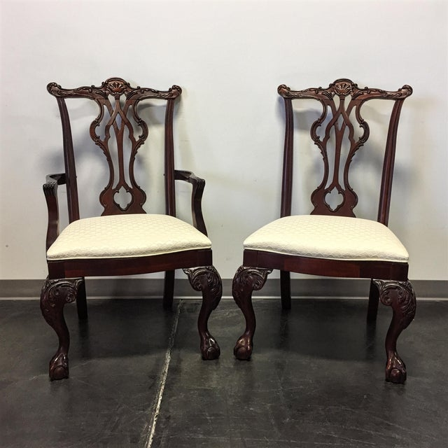 Thomasville Dining Room Chairs: Thomasville Mahogany Collection Chippendale Dining Chairs