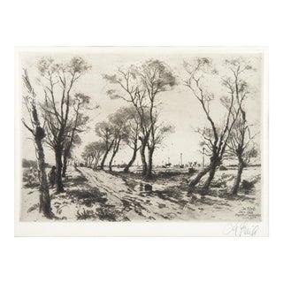 Joseph Steib Landscape Etching