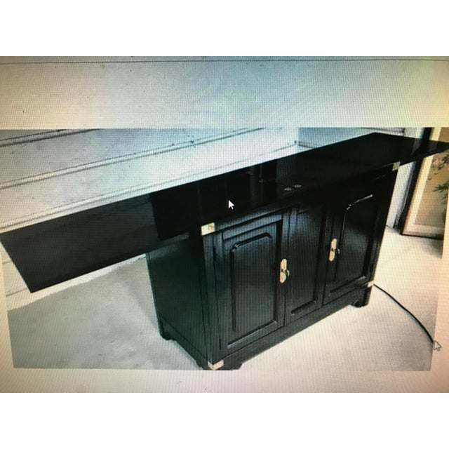 American of Martinsville Asian Style Black Lacquered Buffet - Image 5 of 5