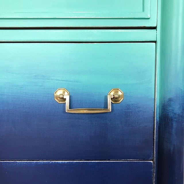 Turquoise & Navy Ombré Dresser - Image 3 of 8