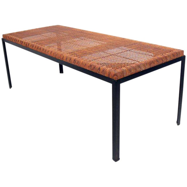 Danny Ho Fong Iron & Rattan Dining Table - Image 1 of 6